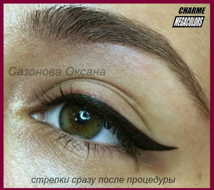 Перманентный макияж бровей у Оксаны Сазоновой